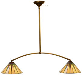 68440 Hanglamp met 2 Tiffany kappen Ø30cm Dark Star