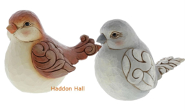 Sparrow & Grey Bird H11,5cm Set van 2 Jim Shore figurines