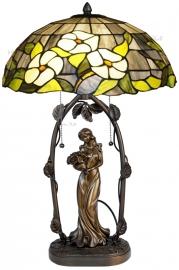 5823 5769 Tafellamp Jugendstil H62cm met Tiffany kap Ø40cm Groen Marta
