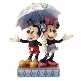 MICKEY & MINNIE Rainy Day Romance H 20cm Jim Shore 4054280