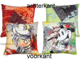 Mickey & Minnie Set van 2 Kussens 40x40cm Disney by Egan