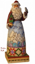 Holiday song  Santa with bluebirds H20cm Jim Shore Kerstman uit 2009