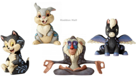 Mini Figurines Set van 4  Figaro Thumper Rafiki Pegasus  Jim Shore