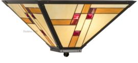 KT50 80 Plafonniere Tiffany 46x46cm Quadratum