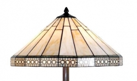 5564 Vloerlamp H164cm met Tiffany kap Ø50cm Serenity
