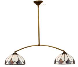 74318 Hanglamp Boog met 2 Tiffany kappen Ø30cm Aragon