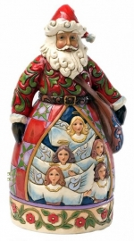 Hark! The Herald Angels Sing 26 cm JIM SHORE 4025796 Kerstman Santa uit 2012 prive