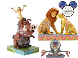 Lion King - Simba & Nala - Timon & Pumbaa - Rafiki - Set van 3 Jim Shore beelden