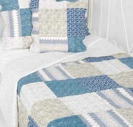 Q155 Clayre & Eef Bedsprei 230 x 260 cm Quilt Patchwork-style beddesprei