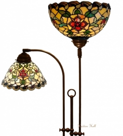 9929-9114 Vloerlamp met 2 Tiffany kappen Santana