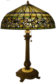 T046L Tafellamp Tiffany H75cm Ø50cm Ashtead