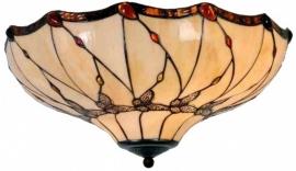 5345 80 Plafonniere Tiffany Ø50cm Black Butterfly