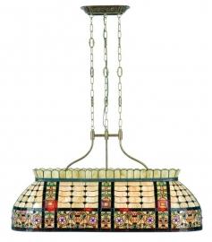 5440 Hanglamp Tiffany B114cm Biljart model Canaria