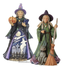 Friendly & Evil Witch - H22cm Set van 2 Jim Shore beelden