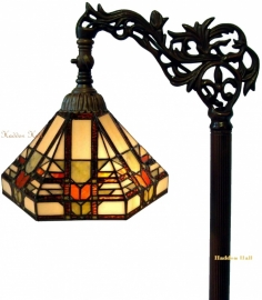 9021 9458 Vloerlamp H164cm met Tiffany kap Ø25cm Midway