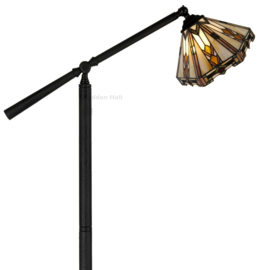 9113 Vloerlamp H165cm met Tiffany kap Ø25cm Durban