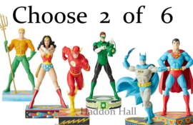 Choose 2 of 6  Jim Shore DC Comics Zilver Age figurines