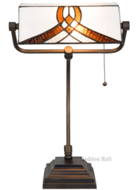 5195 Bureaulamp H51cm met Tiffany kap Astoria Brown