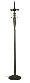 T046FB Voet voor vloerlamp H160cm 2 x E27 Bruin-Goud