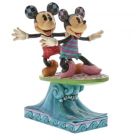 "Mickey & Minnie  ""Surf's Up"" H19cm Jim Shore 6001275"