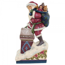 """Making Magic""H20,5cm  Jim Shore Victorian Santa in chimney"
