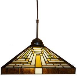 7881 Hanglamp Textielsnoer met Tiffany kap 36x36cm Rising Sun