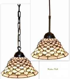 505 Hanglamp Tiffany Ø25cm  Ketting of Textielsnoer Jewel
