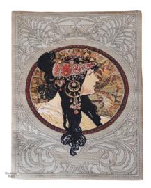 "Alphonse Mucha ""Dona Orechini"" Wandkleed  58x45cm Gobelin Geweven"