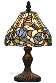 6181 Tafellamp Tiffany H32 Ø18cm Purple Bird