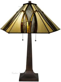 7856 Tafellamp Tiffany H75cm Ø50cm Round & Square
