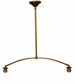 973  Ophanging B80cm voor hanglamp met 2 kappen