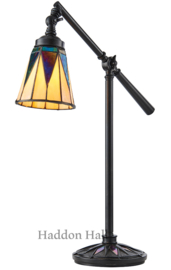 74354 Bureaulamp Verstelbaar met Tiffany kap Dark Star