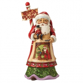 "Workshop Wonders""  H22,5 Jim Shore North Pole Santa 4053707"
