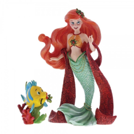 Ariel & Flounder Christmas Figurine H19cm Showcase Disney 6000818