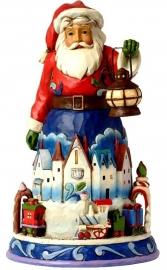 Christmas Is Coming Round  H 24cm Jim Shore 4042963 Santa Kerstman