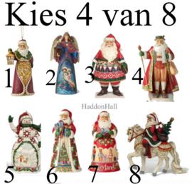 Set van 4 Jim Shore Hanging Ornaments H12cm - Kies 4 van 8