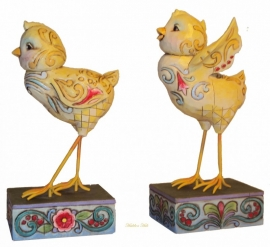 Spring chicks Set van 2 kuikens H 14cm Jim Shore 4009252