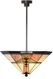 5781 Hanglamp met Tiffany kap 48x48cm Schuitema
