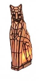 786 Tiffany lamp H33cm Poes, staande kat
