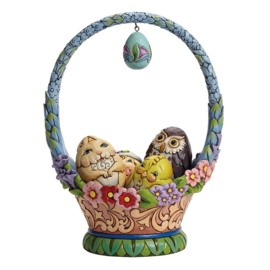Glorious Things of Spring  Easter Basket with  4 Eggs Jim Shore 4041776 paasmand