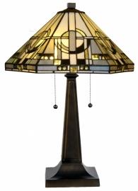 "TM25-5127 Tafellamp Tiffany H60cm Ø42cm ""Metropolitan"""