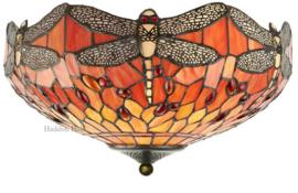T077SH40 80 Plafonniere Tiffany Ø41cm Dragonfly Flame