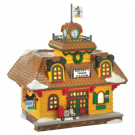 Mickey's Holiday Train Station - H18,5cm Disney Village by D56 A30088