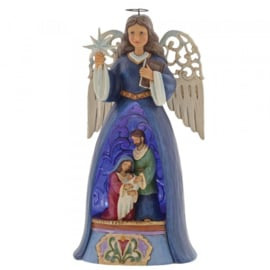 A Savior For All met Verlichting H26cm Jim Shore 4060271  Nativity Angel