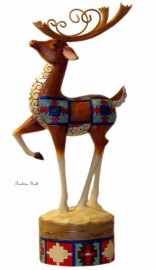"""Holiday Magic"" Lodge Reindeer H22cm JIM SHORE 4024284"