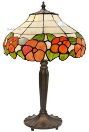 5941 Tafellamp Tiffany H46cm Ø32cm Blomma