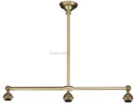 90 Ophanging B90cm voor hanglamp met 3 kappen Mat Nikkel
