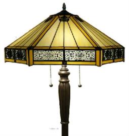 YT2953 Vloerlamp H160cm met Tiffany kap Ø53cm Portum