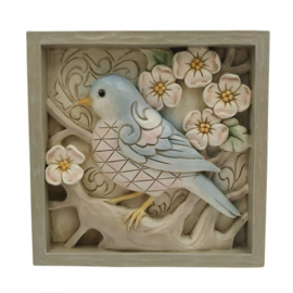 Plaque Blue Bird  16x16cm Jim Shore 6009332
