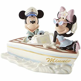 "Mickey & Minnie ""Cruising the Waves"" B21cm Disney by Lenox 837884"